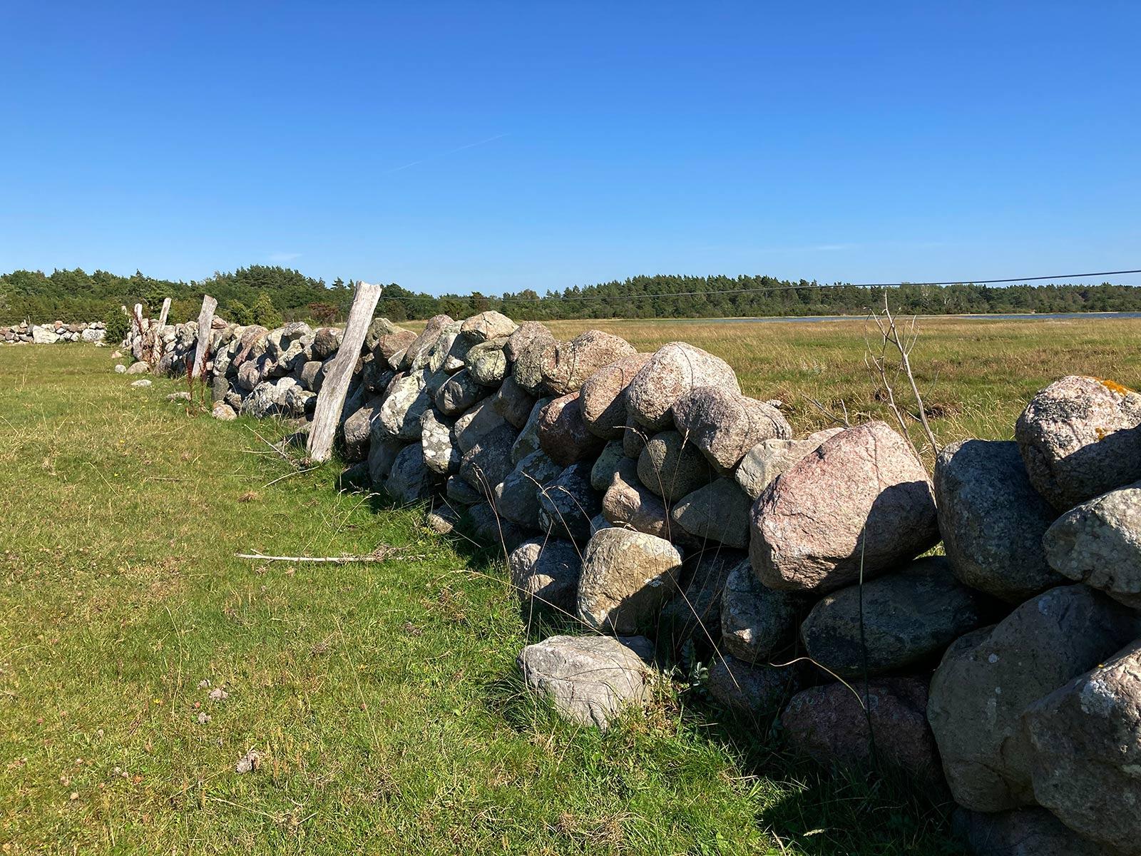 'Natursteinzaun' auf der Insel Öland (Schweden)