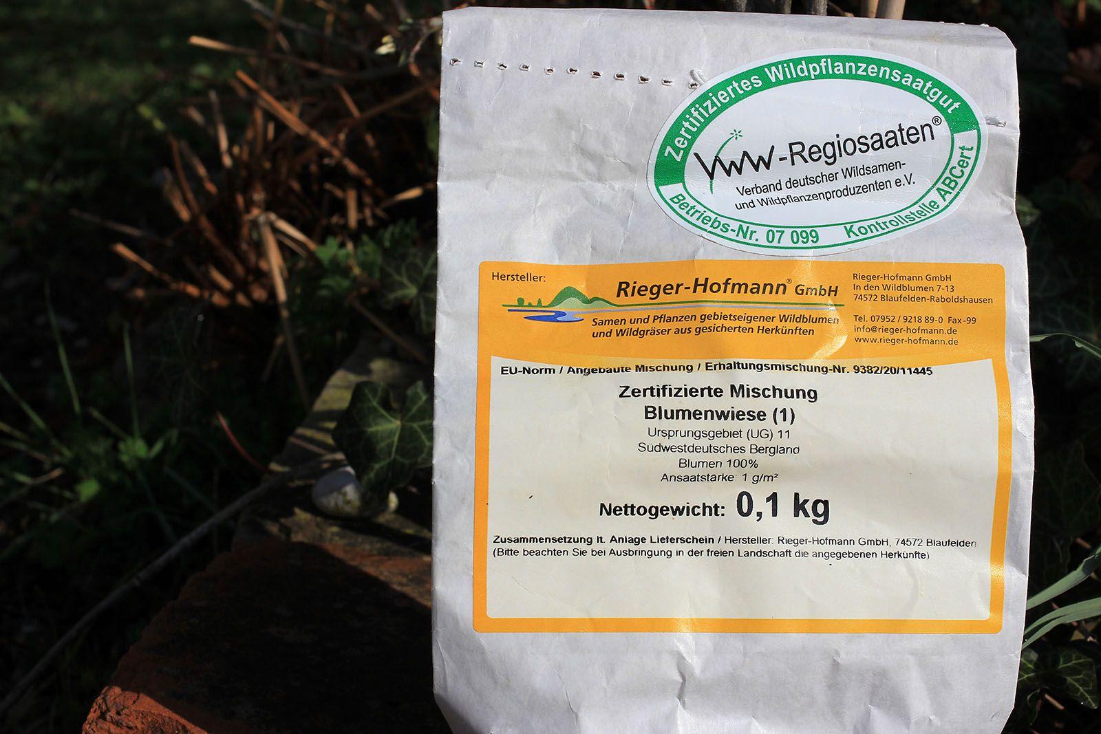 Regionales Saatgut für Blumenwiese